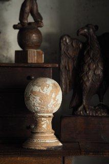 球体オーナメント-antique wood ornament