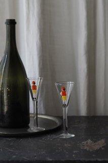 ステップ、ヴィンスの構え-pair vintage glass cup