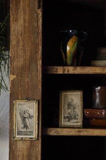 女神アトリビュートと共に-antique glass frame