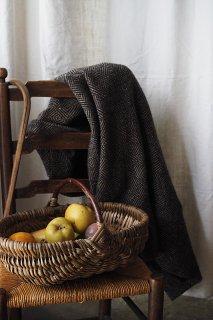 固有種を摘む 傍らバスケット-antique basket