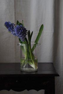 ガラス器 屈託無いフォルム-antique glass vase