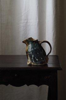 ペンギン闊歩水差し-vintage pottery jug