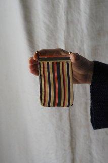 強弱 ハンサムストライプ-vintage silk coin holder