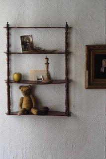 瀟洒な壁付けシェルフ-antique mahogany wall shelf