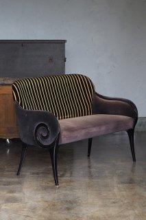 2シーターソファ、ワンダリング渦巻き-vintage Italian 2 seater sofa