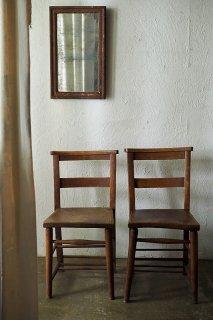 エルムチャーチチェア-antique elm church chair