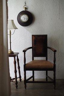 本革アームチェア 角と角-antique leather arm chair