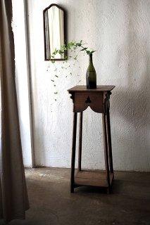 展示行き着く台-antique wood display stand