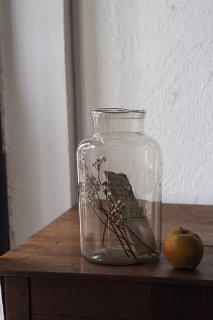 ガラス貯蔵ボトル No.1-vintage or antique glass pot