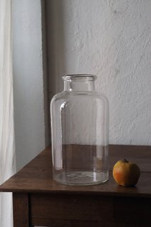 ガラス貯蔵ボトル No.2-vintage or antique glass pot