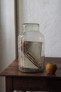 ガラス貯蔵ボトル  No.3-vintage or antique glass pot