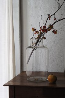 ガラス貯蔵ボトル   No.5-vintage or antique glass pot
