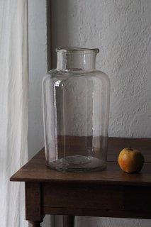 ガラス貯蔵ボトル   No.7-vintage or antique glass pot