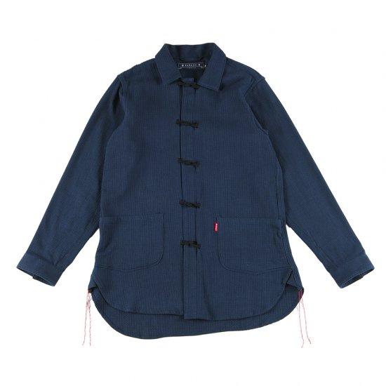 ナナシ Kamon Shirt Coverall NAVY