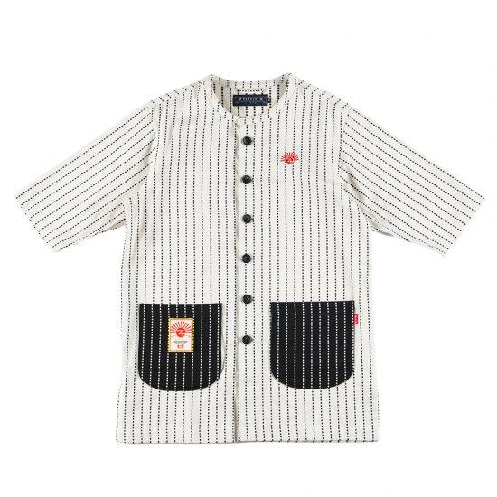 ナナシ Wasshoi Shirt JKT WHITE