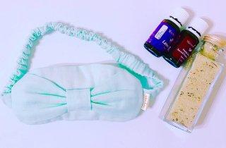 【雑貨】Alice Land original  アイピロー(リボン ミントブルー) & アイブライト ソルト(120g)