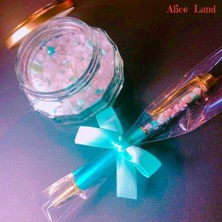 【雑貨】Alice Land original  ボールペン & jewelry salt *アマゾナイト(100g)