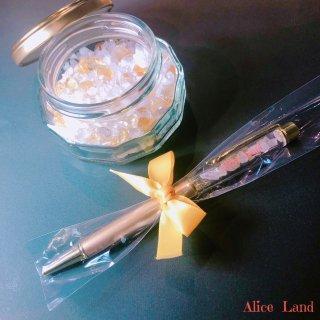 【雑貨】Alice Land original  ボールペン & jewelry salt *シトリン(100g)