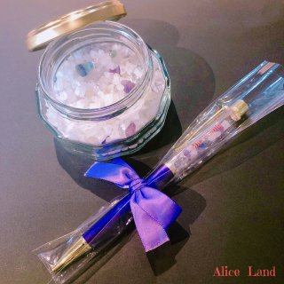 【雑貨】Alice Land original  ボールペン & jewelry salt *フローライト(100g)