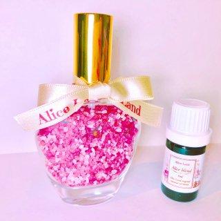 【雑貨】Perfume chakra salt (第1チャクラ) & Alice Land original  オーガニック精油 (33g+5ml)