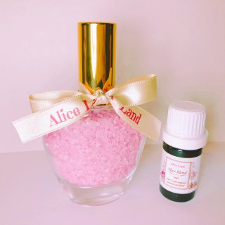 【雑貨】Perfume chakra salt (インフィニティ) & Alice Land original  オーガニック精油 (33g+5ml)