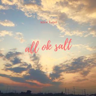 【食品】all ok salt (66g)