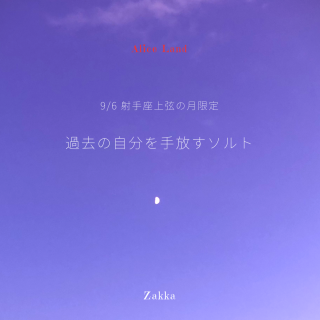 【雑貨】射手座上弦の月*過去の自分を手放すソルト (66g)