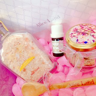 【セット】母の日限定セット(天使のバスソルト&オリジナル精油&Rose100%salt)