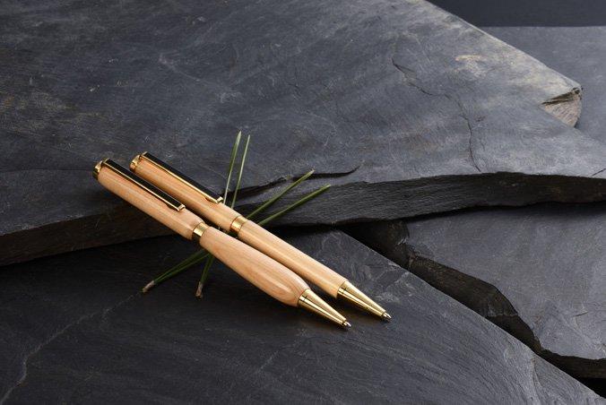 盆栽の里産 天然木松ボールペン(ペア/ビューティー)