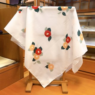 椿柄スカーフ