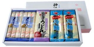 夏のひんやり麺セット(吉野ケ里そうめん4袋・冷やし中華4袋・ささっとうどん2袋)