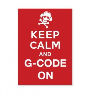 G-Code Holsters_Keep Calm and Gcode on Decal (ジーコード ディカール)
