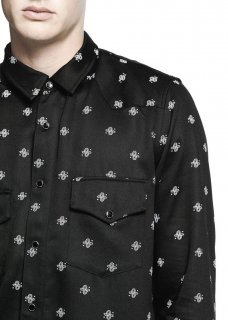 AMIRI/アミリ WESTERN PAISLEY SHIRT  BLACK /ウェスタン ペイズリー シャツ ブラック   テンセル ウェスタンシャツ/メンズ/A0051