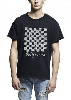 AMIRI/アミリ  CHECKER VINTAGE TEE BLACK/チェッカー ヴィンテージ ティー ブラック コットン Tシャツ/メンズ/A0058