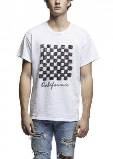 AMIRI/アミリ  CHECKER VINTAGE TEE WHITE/チェッカー ヴィンテージ ティー ホワイト コットン Tシャツ/メンズ/A0059
