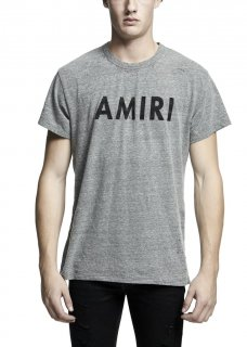 AMIRI/アミリ AMIRI VINTAGE TEE HEATHER GREY /アミリ ヴィンテージ ティー ヘザー グレイ コットン Tシャツ/メンズ/A0054