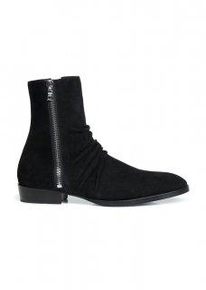 AMIRI/アミリ SKINNY STACK BOOT BLACK/スキニー スタック ブーツ ブラック レザー ブーツ/メンズ/A0107
