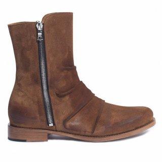 AMIRI/アミリ STACK BOOT BROWN/スタック ブーツ ブラウン レザー ブーツ/メンズ/A0110