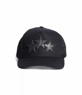 AMIRI/アミリ STAR TRUCKER HAT BLACK/スター トラッカー ハット ブラック コットン ハット/メンズ/A0112