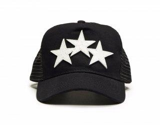 AMIRI/アミリ STAR TRUCKER HAT BLACK/WHITE/スター トラッカー ハット ブラック/ホワイト コットン ハット/メンズ/A0113