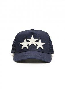 AMIRI/アミリ STAR TRUCKER HAT BLUE/WHITE/スター トラッカー ハット ブルー/ホワイト コットン ハット/メンズ/A0114