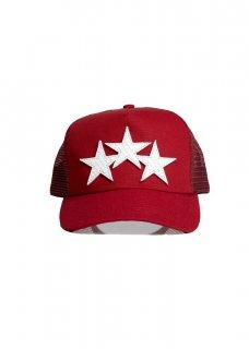 AMIRI/アミリ STAR TRUCKER HAT RED/WHITE/スター トラッカー ハット レッド/ホワイト コットン ハット/メンズ/A0116