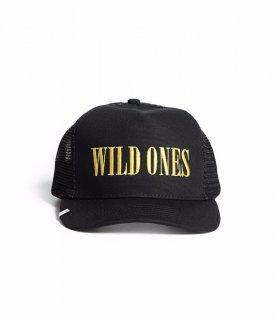 AMIRI/アミリ WILD ONES TRUCKER HAT BLACK/YELLOW/ワイルド ワンス トラッカー ハット ブラック/イエロー コットン ハット/メンズ/A0118