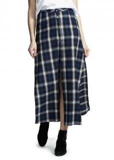AMIRI/アミリ FLANNEL  SKIRT BLUE/フランネル スカート ブルー コットン スカート/レディース/A0151