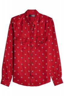AMIRI/アミリ PRINTED WESTERN SHIRT RED/プリンテッド ウェスタン レッド シャツ コットン シャツ/メンズ/A0156