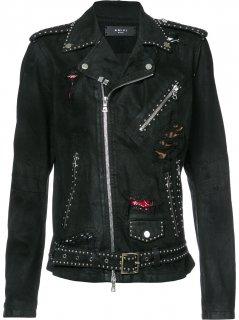 AMIRI/アミリ Distressed Biker Jacket/ディストレスト バイカー ジャケット コットン ジャケット/メンズ/A0162