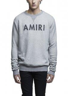AMIRI/アミリ AMIRI CREW SWEATSHIRT GREY/アメリ クルー スウェットシャツ グレー コットン スウェットシャツ/メンズ/A0042