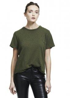AMIRI/アミリ SHOTGUN TEE OLIVE/ショットガン ティー オリーブ コットン Tシャツ/レディース/A0143