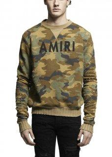 AMIRI/アミリ AMIRI CREW SWEATSHIRT CAMO/アメリ クルー スウェットシャツ カモ コットン スウェットシャツ/メンズ/A0035