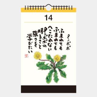 NK-651  心の花 小藪実英 万年日めくりカレンダー